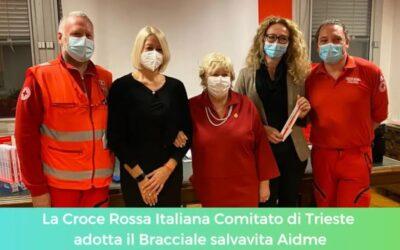 La Croce Rossa Italiana Comitato di Trieste adotta il Bracciale salvavita Aidme