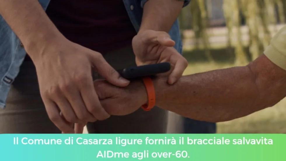 Il Comune di Casarza ligure fornirà il bracciale salvavita AIDme agli over-60