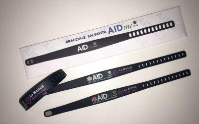 Audens dona 500 bracciali salvavita a Banca delle Visite