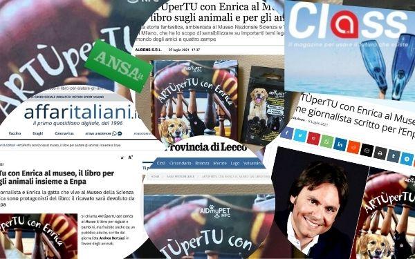 """Parlano di noi: """"ArtùPerTu con Enrica al Museo"""" e AIDmyPET, la rassegna stampa"""