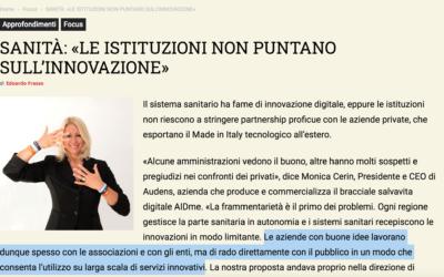Sanità, Monica Cerin a IlBollettino.eu: «Le istituzioni non puntano sull'innovazione»